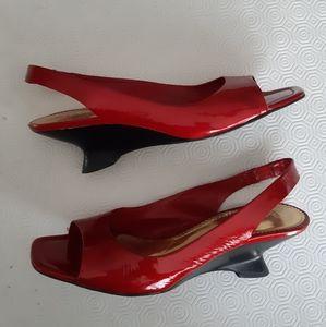 Franco Sarto red sandals